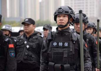 青岛保安公司进行训练的意图是什么?